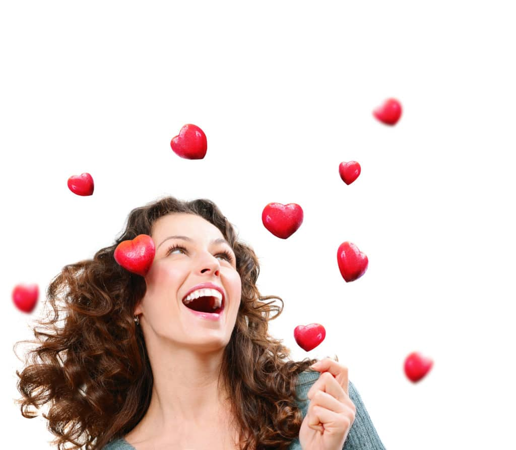 Woman with hearts - heart-centred sales