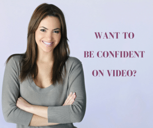 Woman feeling confident on video